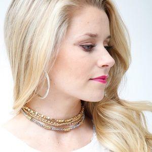 🌟 four strand metallic bead choker!! 🌟